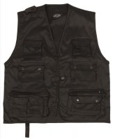 Outdoor vest SAFARI, black