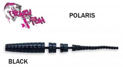 Guminukas aromatizuotas Crazy fish Polaris 5.4 cm BLACK