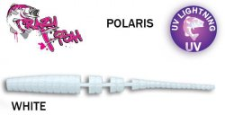 Guminukas aromatizuotas Crazy fish Polaris 5.4 cm WHITE