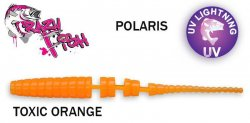 Guminukas aromatizuotas Crazy fish Polaris 5.4 cm TOXIC ORANGE