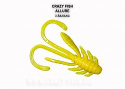 Силиконовая приманка Crazy Fish Allure 40 мм Banana