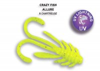Guminukas Crazy Fish Allure 40 mm Chartreuse