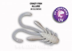 Силиконовая приманка Crazy Fish Allure 40 мм Glowing