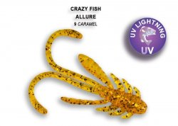 Силиконовая приманка Crazy Fish Allure 40 мм Caramel
