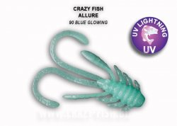 Силиконовая приманка Crazy Fish Allure 40 мм Blue Glowing