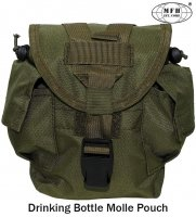 "Drinking Bottle Pouch, ""MOLLE"", OD green"