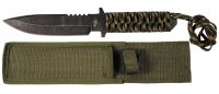 Knife with fixed blade, paracord wrap handle (44498)