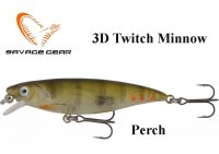 Воблер Savage Gear 3D Twitch Minnow Perch