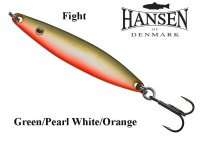 Блесна Hansen Fight Green/Pearl White/Orange