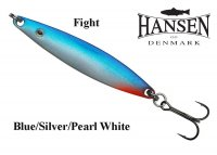 Блесна Hansen Fight Blue/Silver Pearl White
