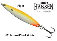 Hansen Fight blizgės UV Yellow/Pearl White