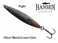 Hansen Fight blizgės Silver Black/Green Glow
