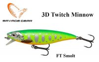 Воблер Savage Gear 3D Twitch Minnow FT Smolt