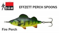 Blizgė DAM Effzett Perch Spoon Fire Perch