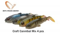 Savage Gear Craft Cannibal Paddletail Clear Water rinkinys