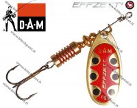 DAM effzett standart spinner Gold Black Dot