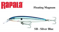 Vobleris Rapala Floating Magnum Silver Blue