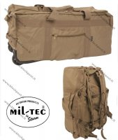 Combat Duffle Bag with Wheel coyote, 105L