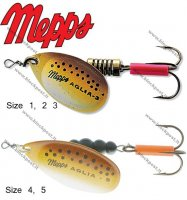 Blizgė Mepps Aglia Brown trout