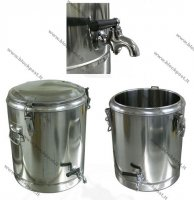 Stainless steel thermos for food capacity 25 L with tap